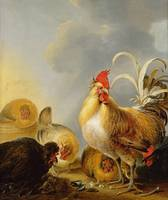 A Group of Farmyard Fowl, 1643