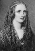 Mary Shelley, an idealised portrait created after