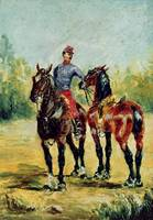 Two Horses and a Groom, 1880