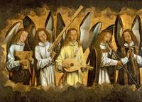 Five Angels Playing Musical Instruments