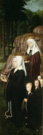 Right hand panel of the Jean de Trompes Triptych w