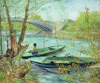 Fishing in the Spring. Pont de Clichy, 1887