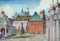 Stage design for Modest Mussorgsky's opera 'Bori