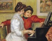 Yvonne and Christine Lerolle at the piano, 1897