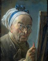 Self Portrait with an Easel, c.1775-79