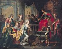 The Queen of Sheba before Solomon