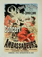 poster advertising an 'Ambassadors' Concert', C
