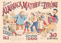 Poster advertising 'Almanach Mathieu de la Drome'