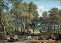 Windsor Forest with Oxen Drawing Timber, 1798