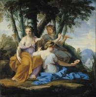 The Muses, Clio, Euterpe and Thalia, c.1652-55