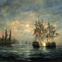 """""""Engagement Between the Bonhomme Richard and the Se"""" by fineartmasters"""