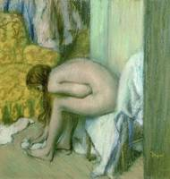 After the Bath, Woman Drying her Left Foot, 1886