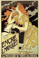 Reproduction of a poster advertising 'Marquet Ink