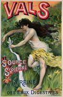 Poster advertising 'Source St. Pierre, eau de Val
