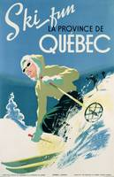 Poster advertising skiing holidays in the province