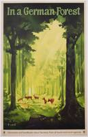 'In a German Forest', poster advertising tourism