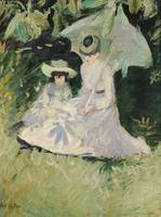 Madame Helleu and her Daughter at the Chateau of B