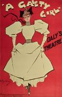 Poster advertising 'A Gaiety Girl' at the Daly'