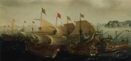 A Sea Action, possibly the Battle of Cadiz, 1596