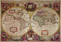 A New Land and Water Map of the Entire Earth, 1630