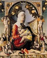 The Virgin and Child Surrounded by Eight Angels, 1