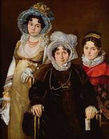 Portrait of Madame de Tangry and her Daughters, af