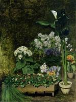 Flowers in a Greenhouse, 1864