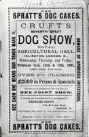 Poster advertising Cruft's Dog Show at the Royal