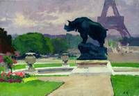 The Trocadero Gardens and the Rhinoceros by Jacque