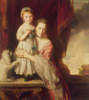 Georgiana, Countess Spencer with Lady Georgiana Sp