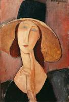 Portrait of Jeanne Hebuterne in a large hat, c.191