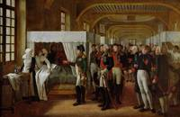 Napoleon visiting the Infirmary of Invalides on 11