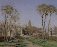 Entrance to the Village of Voisins, Yvelines, 1872