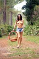 Pretty Seminude Brunette Outdoors (4)