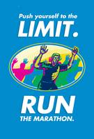 Marathon Runner Push Limits Poster