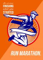 Marathon Finish What You Started Retro Poster