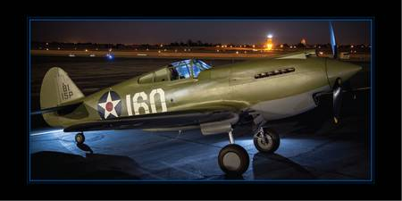Curtiss P-40C Warhawk at night
