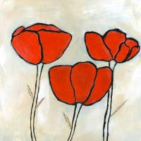 Summer Poppies III Art Prints & Posters by Caitlin Dundon
