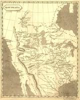 Vintage Map of The Louisiana Purchase (1804)