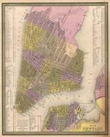 Vintage Map of New York City (1850)