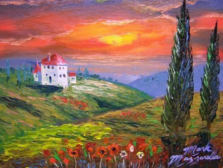 Tuscany Fire Sky