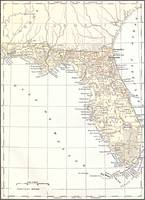 Vintage Map of Florida (1878)