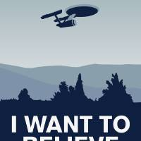 """My I want to believe minimal poster-Enterprice"" by Chungkong"
