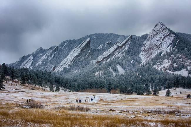 Dusted Flatirons Chautauqua Park Boulder Colorado