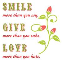 SMILE-GIVE-LOVE