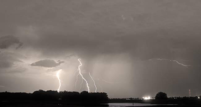 Thunder Rolls And The Lightnin Strikes Sepia