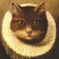 """Cat In A Ruff Cute Victorian Art Vintage Painting"" by masterpiecesofart"