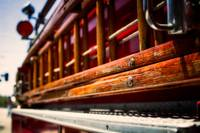 Antique Wood Ladder on Fire Truck