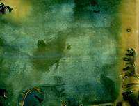hand colored tintype yellow greenish abstraction