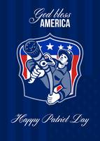 God Bless America Happy Patriot Day Poster